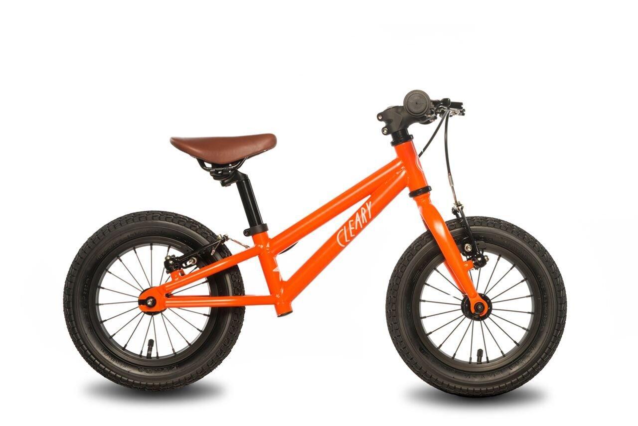 Cleary Bikes Balance Bike, 12'' No Pedal Bike, Lightweight, Starfish, Multiple Colors (Very Orange)