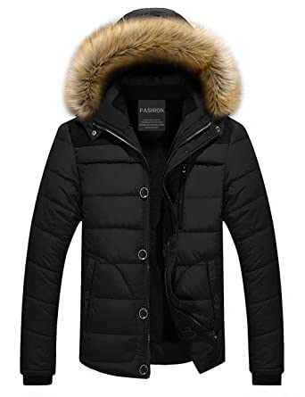 Image result for Puffer coat with fur hood men