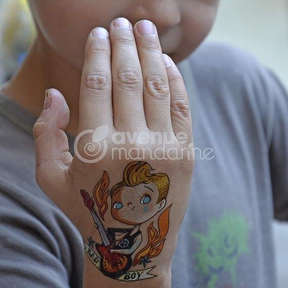 Enfants tatouage football 36 pièces dans 6 motifs divers enfants anniversaire