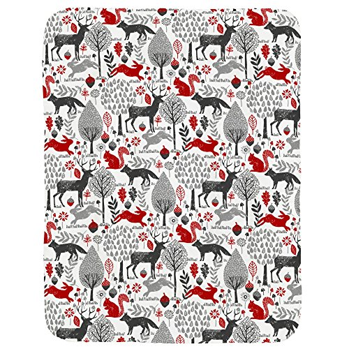 Carousel Designs Red and Gray Woodland Animals Crib Comforter by Carousel Designs