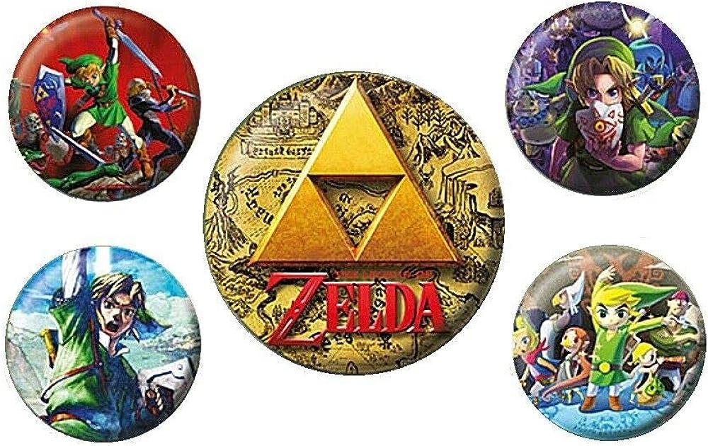 Genuine The Legend of Zelda Classics 5 Piece Button Badge Set: Shoes