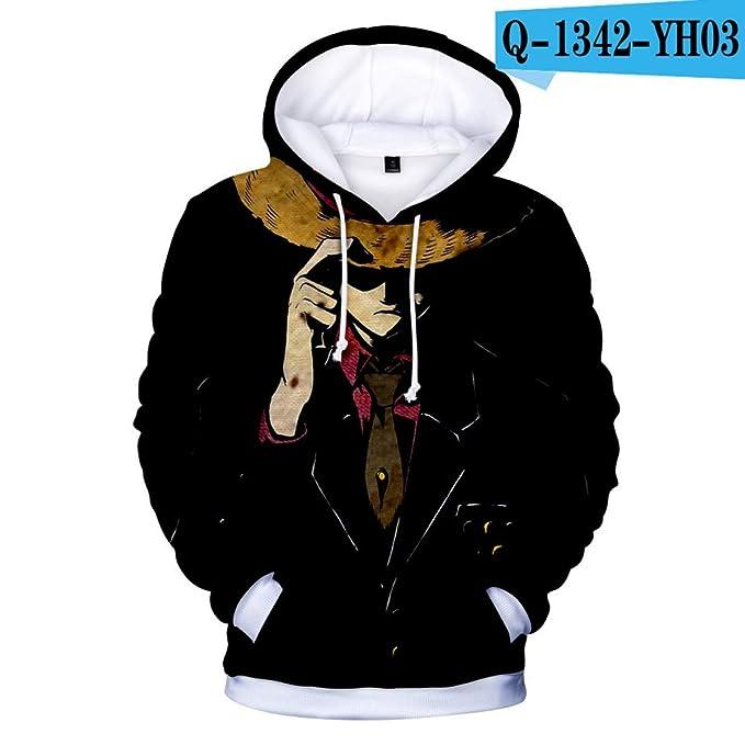 Amazon.com: WEEKEND SHOP One Piece Luffy Hoodies 3D Print Hooded Sweatshirt Japanese Anime Hoodies: Clothing