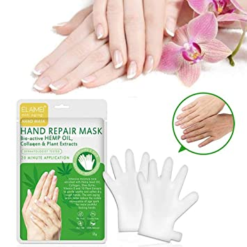 Volwco Hand Mask Gloves,Moisturizing Hand Therapy Mask, Anti