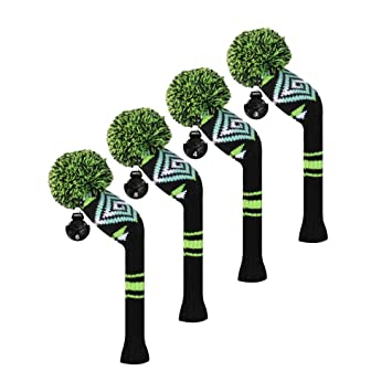 Scott Edward/utilidades fundas de cabeza de palo de golf híbridos, 4 piezas Paquete