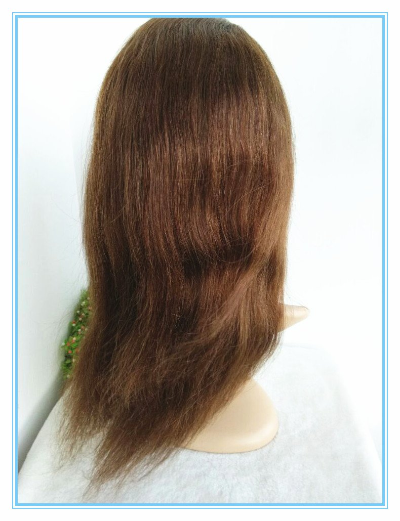 hot sale 100% Indian Remy Human Hair Silk Straight Glueless Full Lace Silk Top Wig--bw8001 #4