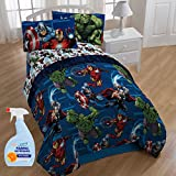 NEW! Marvel Heroic Age 4-Piece Twin Kids Bedding Comforter Set with Fabric Refresher