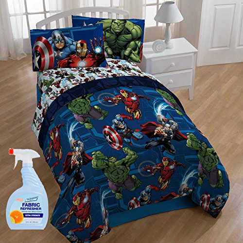 NEW! Marvel Heroic Age 4-Piece Twin Kids Bedding Comforter Set with Fabric Refresher by MegaMarketing