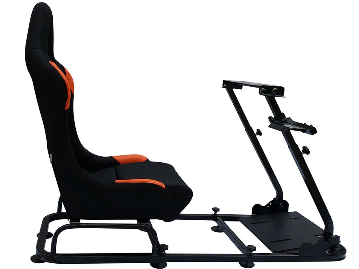 Sedile postazione di gioco per PC e consolle giochi Ps4 Ps3 Xbox One 360 nero arancione FKRSE14123