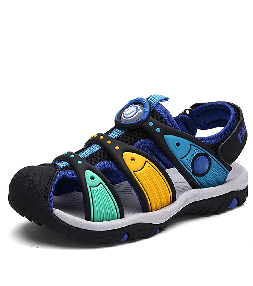 Toddler//Little Kid//Big Kid Boys /& Girls Quick Dry Beach Sports Closed-Toe Water Sandals