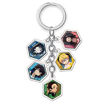 Kimetsu no Yaiba Character Keychain Acrylic Pendant Gifts Anime Demon Slayer