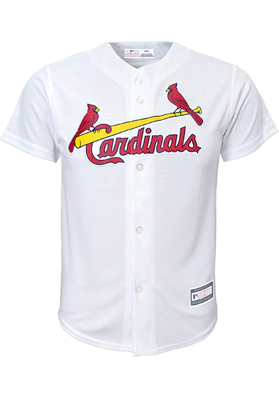 factory price 7862f a0490 St Louis Cardinals Blank White Kids Cool Base Home Jersey