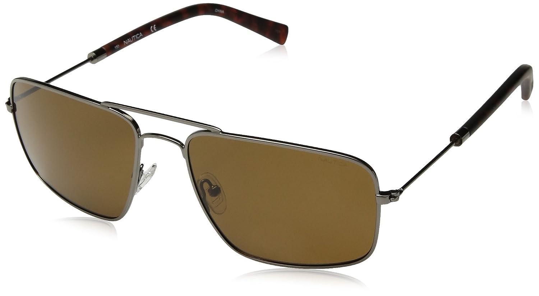 Nautica Men's N4632sp Polarized Aviator Sunglasses, Gunmetal, 59 mm Nautica Sunglasses N4632SP-030