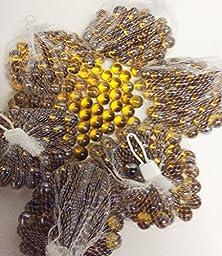 CYS Vase Filler Amber Gold Marbles,1 lbs per bag (5 bags) - Approx. 375 pcs