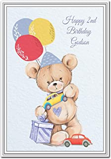 Happy 2nd Birthday Godson Card