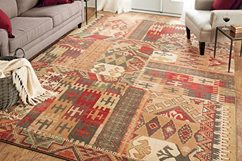- Mohawk Home Madison Louis And Clark Bark Brown Southwest Patchwork Woven Rug, 8'x11', Brown
