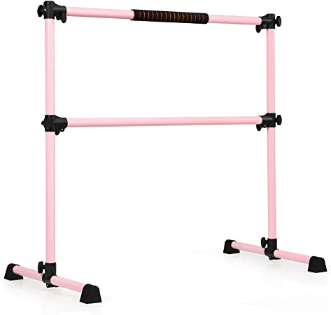 Ballet Barre With Non-slip Stand Height Adjustable Stretching Bars Freestanding Portable Barre Rod for Home Dancing Fitness Size : 100 cm