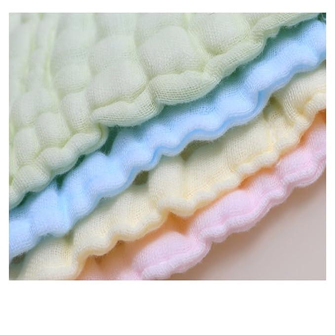 Lucear 5 pack Bebé Toallita Recién Nacidos Muselina Toalla Facial Toallitas de 100% Algodón para Alimentación Lactancia Limpie Mano Rostro: Amazon.es: Bebé