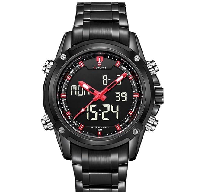 Amazon.com: Relojes de Hombre Stainless Steel Waterproof Business Watch For Men RE0049: Watches