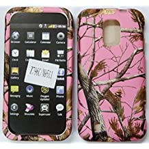 ZTE Majesty Source N9511 / Z796C Leaves, Branches,Trees Pink Hunter's Camo Camouflage Hard plastic Easy Snap-On Case Cover leather finish