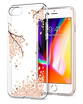 best service eabf4 0ba37 Spigen 042CS21220 Liquid Crystal iPhone 8 Case, iPhone 7 Case Cover with  Laser Precision Design and Premium Clarity for iPhone 7/iPhone 8-Shine ...