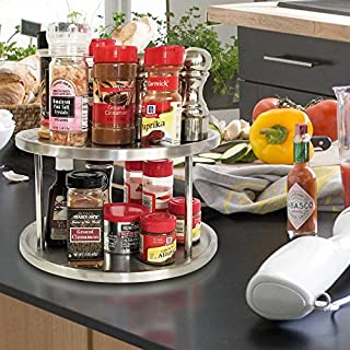 Kitchen Magic Two Tier Lazy Susan - on countertop