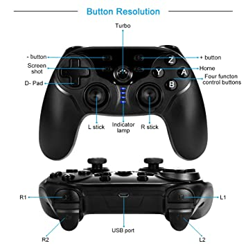 Amazon.com: allcaca Wireless Game Controller Ergonomic Gaming Controllers Rechargeable Gamepads Portable Joypad with Screenshot Vibration and Gyro ...