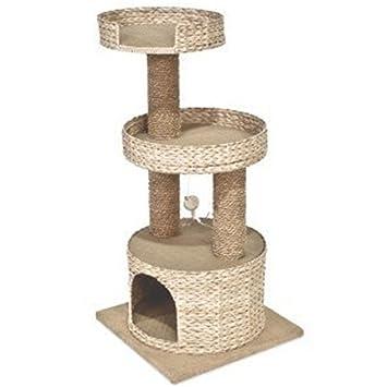 Shilongxiao Natural Cattail Rope Cathead Cat Toy Cat Tree, Juguetes para Gatos, artículos para Mascotas: Amazon.es: Hogar