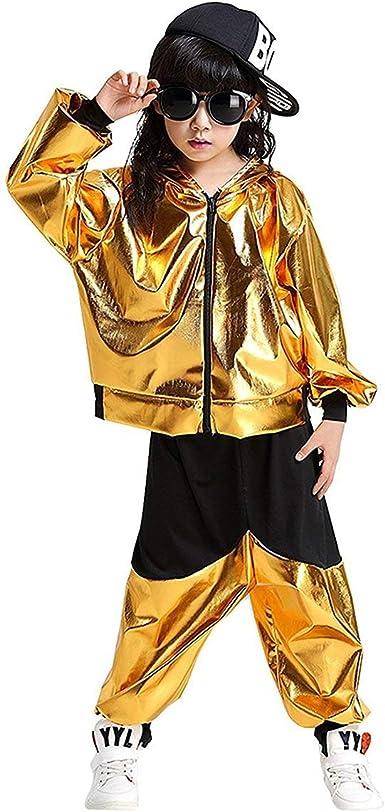 Amazon Com Lolanta Kids Dance Costumes Hip Hop Jazz Performance Halloween Paint Hooded Outfits Clothing