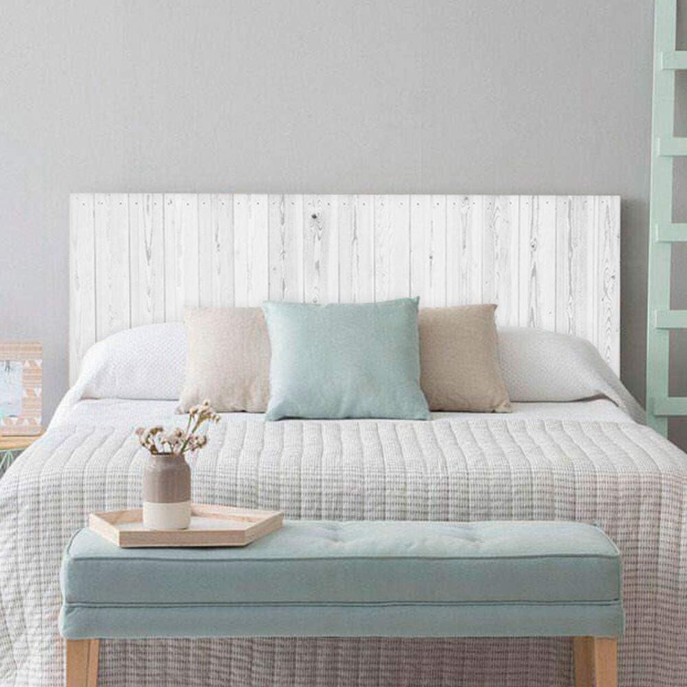 setecientosgramos Cabecero Cama PVC | Whitewood | Varias Medidas | Fácil colocación | Decoración Dormitorio (150x60cm)