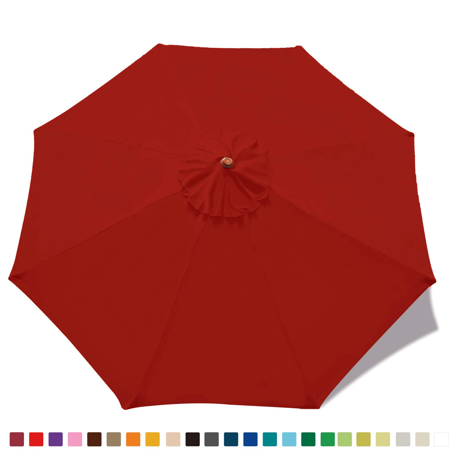 ABCCANOPY 9ft Market Umbrella Replacement Patio Umbrella Top Outdoor Umbrella Canopy 8 Ribs 23 Colors
