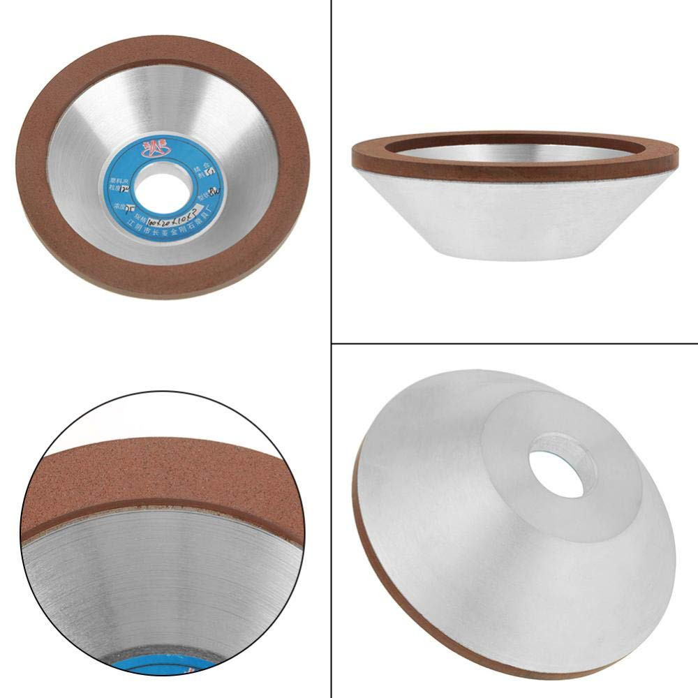 Stones and Hard Alloys 100mm Diamond Grinding Disc for The Grinding of Brittle Materials Such as Glass 120 Grit Diamond Grinding Wheel Cup Gems Ceramic