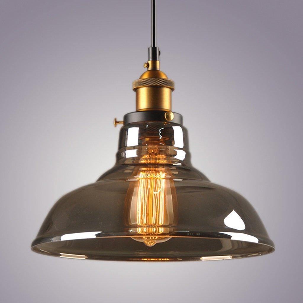 5   -Transparent ACZZ Vintage Industria Pendelleuchte Beleuchtung - 1 Licht, Restaurant Loft Kronleuchter,2  -transparent