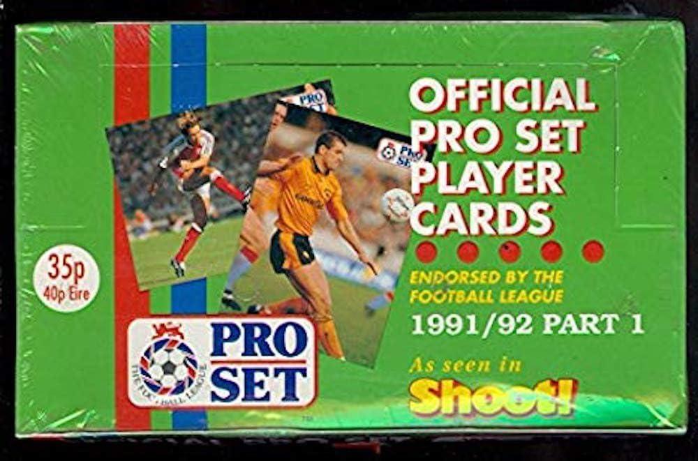 Sealed 48 Packs 1991-92 Pro Set Soccer Box Part 1 Football