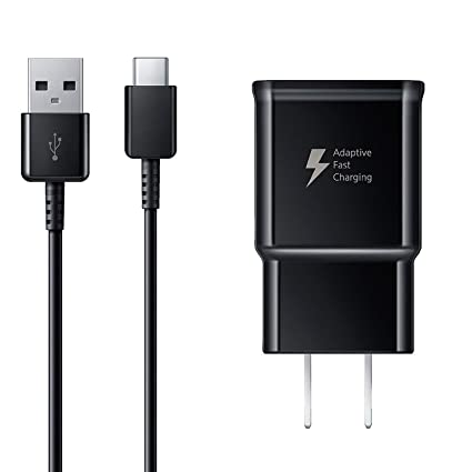 Ixir Adaptive Fast Charger Kit for Samsung Galaxy S8, S8 Plus, S10, S10 Plus, S10e, Note 9, OnePlus 7 Pro, Google Pixel 3, LG G8, and More, Wall ...