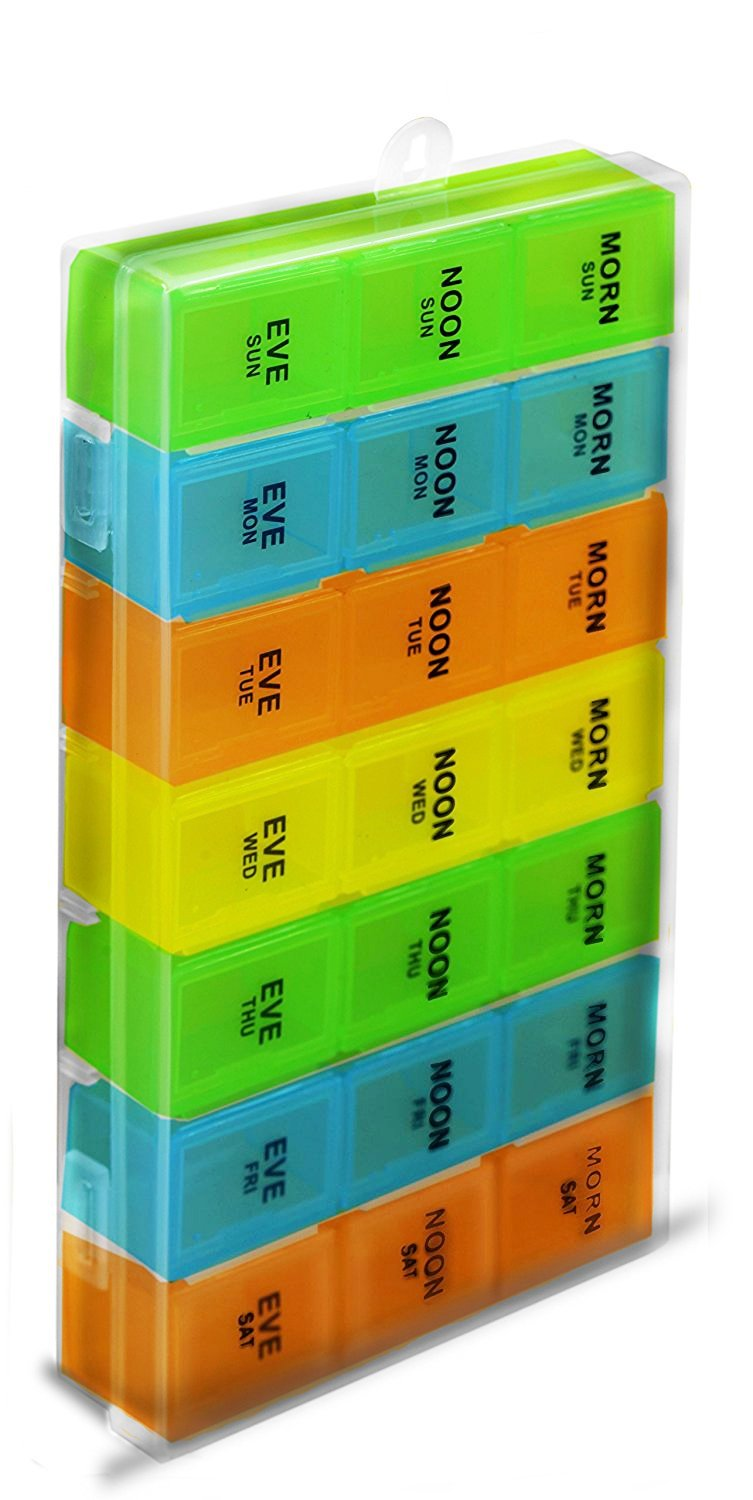 Star Tech Medical Aids Reminder Medication Pill Organizing Box (Large) by Star Tech