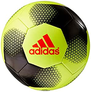 adidas Performance Ace Glider Soccer Ball, Solar Yellow/Black/Solar Red, Size 3