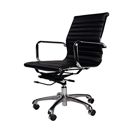 Office chair eames Eames Aluminum Image Unavailable Amazoncom Amazoncom Eames Style Group Management Office Chair Black Home