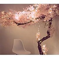 Cerejeiras artificiais – Árvore de flor de 1,5 m – Rosa claro – hastes de madeira real e folhas realistas réplica de…