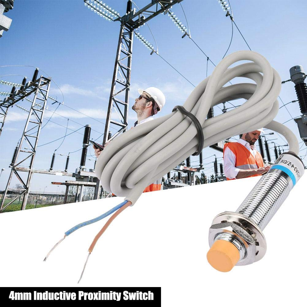 Inductive Proximity Sensor Switch,4mm Inductive Proximity Sensor Switch DC 2-Wire Normally Close LJ12A3-4-Z//DX