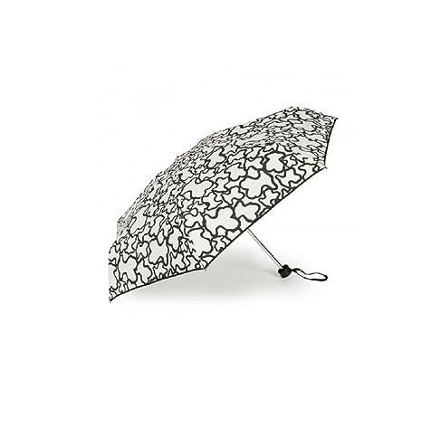 Paraguas Tous mini plegable Kaos en color arena-negro