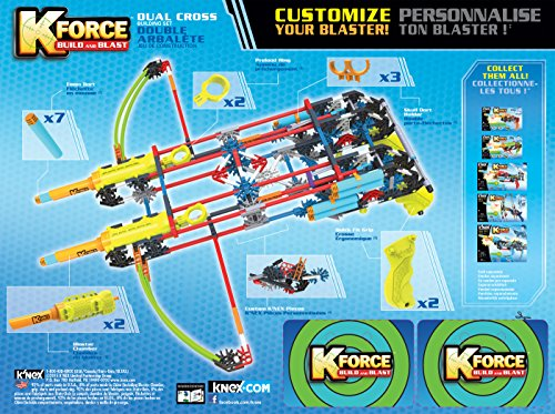 K'NEX K-FORCE Build and Blast - Dual Cross Building Set - 368 Pieces - Ages 8+ - Engineering Education Toy