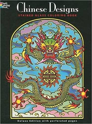 chinese designs stained glass coloring book dover design stained glass coloring book