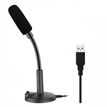 USB Microphone,ZAFFIRO Computer Microphone Plug & Play Home Studio USB  Condenser Microphone for PC/Desktop/Laptop/Notebook,Recording for