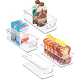 mDesign Stackable Plastic Food Storage Bin with Handles for Kitchen Pantry, Cabinet, Refrigerator, Freezer - Organizer…