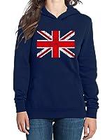 Großbritannien Flagge Fahne Fanshirt Frauen Kapuzenpullover Hoodie