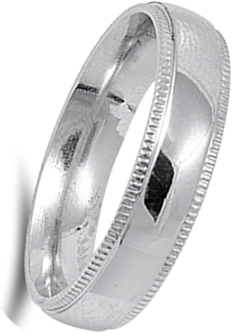 Concave Mens Wedding Band High Polish Ring New 316L Stainless Steel Sizes 6-13