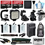 128GB Accessories Bundle for GoPro HERO4 Hero 4 Black Silver includes 64GB Memory + Battery (3 Pack) + Travel Charger + Car Mount + LED Light + Action Stabilizer + Selfie Monopod Stick + More
