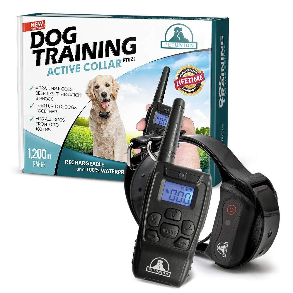 Pet Union PT0Z1 Premium Dog Training Shock Collar, Fully Waterproof, 1200ft Range by Pet Union