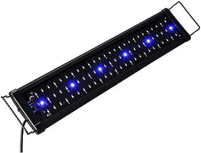 """Yescom Multi-Color Aquarium Light 78 Bright SMD5730 LED Aquarium Lighting Over-Head Lamp 61-76cm(24-30"""") Fish Tank"""