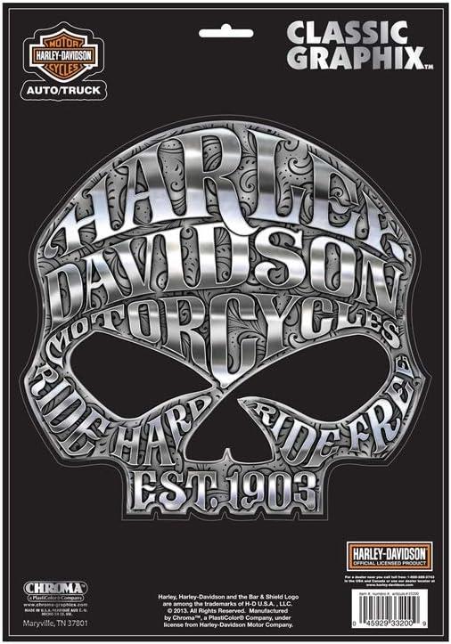 Harley Davidson Aufkleber Classic Emblem Küche Haushalt